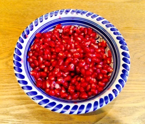 Sarah-Jane brought pomegranates.