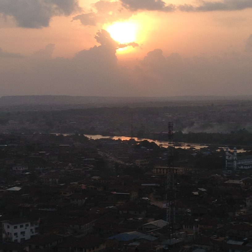 Abeokuta from the top pf Olomu Rock