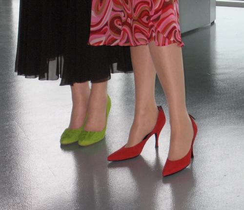 our Civil Partnership shoes, by Sue Ridge